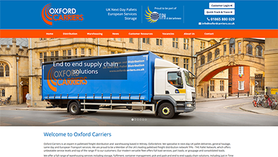 Oxford Carriers launches a new website